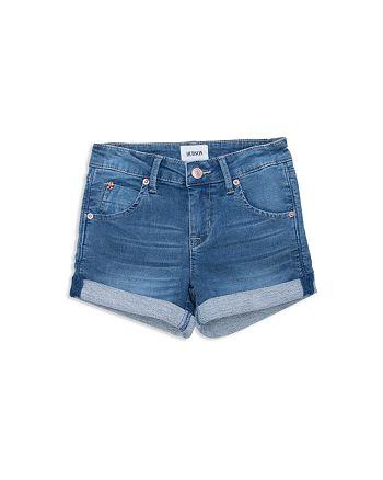 Hudson - Girls' Denim Look French Terry Shorts - Big Kid