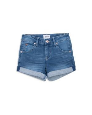 Hudson Girls' Denim Look French Terry Shorts - Big Kid thumbnail