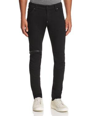 G-star Raw 5620 3D Zip Knee Slim Fit Jeans in Rinsed Black