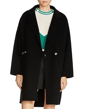 Maje Grima Oversize Zip-Pocket Coat