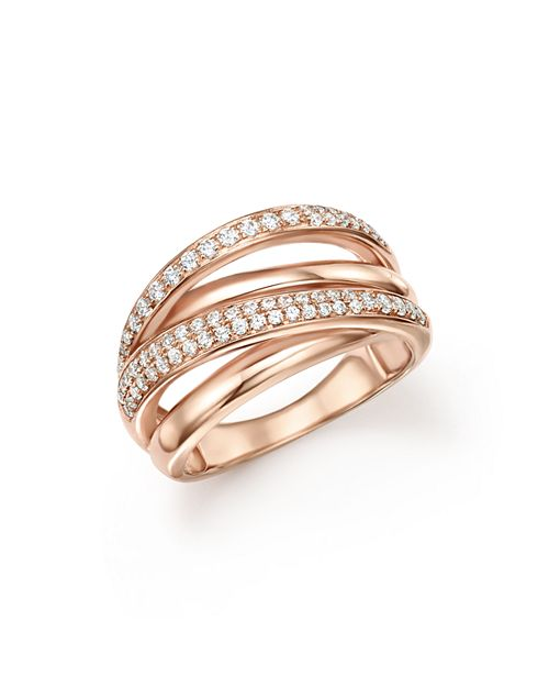 Bloomingdale's - Diamond Crossover Ring in 14K Rose Gold, 0.50 ct. t.w. - 100% Exclusive