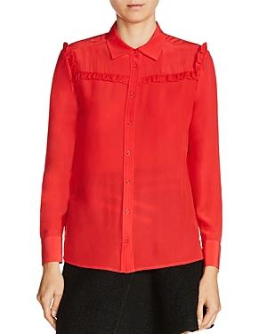 Maje Callie Silk Shirt