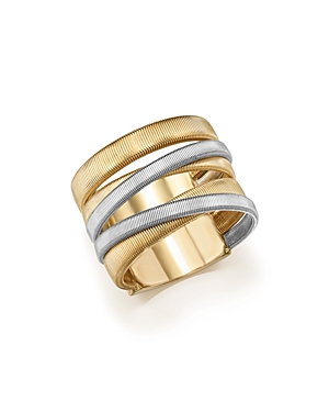 Marco Bicego 18K White & Yellow Gold Masai Five-Strand Crossover Ring-Jewelry & Accessories