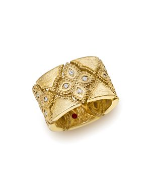 Roberto Coin 18K Yellow Gold Venetian Princess Diamond Ring