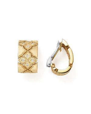 Roberto Coin 18K White & Yellow Gold Venetian Princess Diamond Earrings
