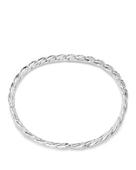 David Yurman - Paveflex Bracelet with Diamonds in 18K White Gold