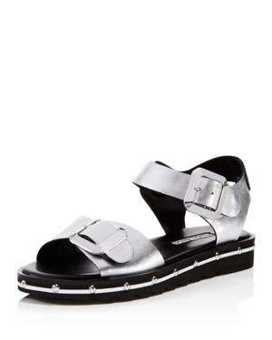 WOMEN'S SPY LEATHER ANKLE STRAP SANDALS