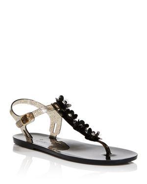 Farrah Thong Sandal, Black