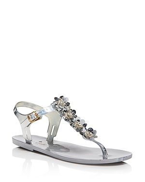 kate spade new york Women's Farrah Jelly T Strap Sandals
