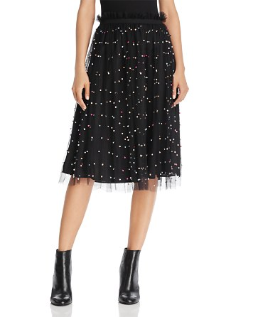 $Re:Named Embellished Tulle Midi Skirt - Bloomingdale's