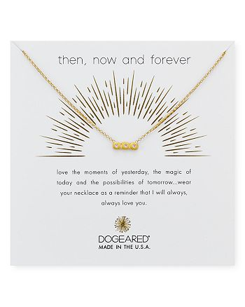 """Dogeared - Then Now Forever Pendant Necklace, 16"""""""