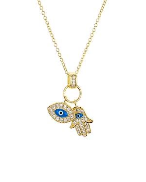 Aqua Sterling Silver Pendant Necklace, 16 - 100% Exclusive