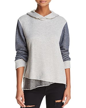 Wilt METALLIC COLOR-BLOCK HOODED SWEATSHIRT