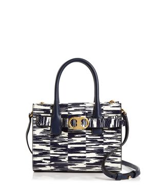 Tory Burch Gemini Link Snake Small Leather Tote