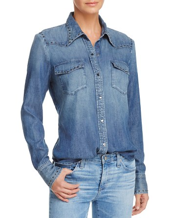 $AG Deanna Denim Shirt - Bloomingdale's