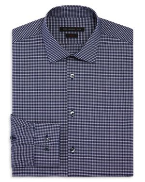 John Varvatos Star Usa Micro Check Slim Fit Stretch Dress Shirt