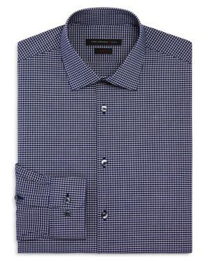 John Varvatos Star Usa Micro Check Slim Fit Stretch Dress Shirt