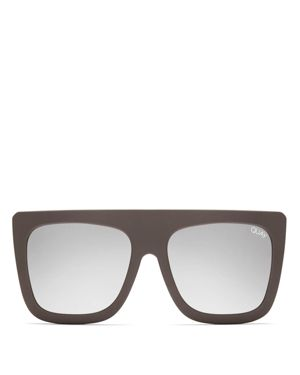 Quay Women's Cafe Racer Square Sunglasses, 59mm