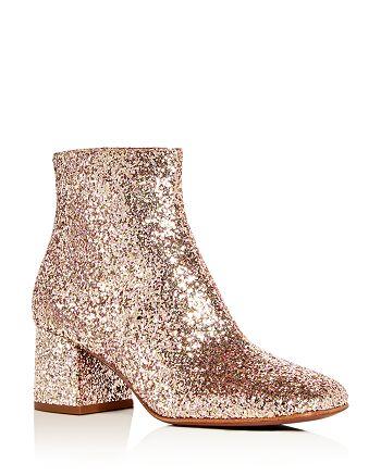 Ash - Women's Electra Glitter Block Heel Booties