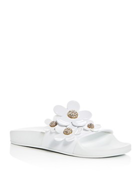 09f1490ceee MARC JACOBS - Women s Daisy Embellished Pool Slide Sandals ...