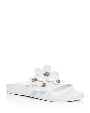 Marc Jacobs Women's Daisy Embellished Pool Slide Sandals