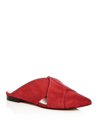 1. STATE Women's Rime Suede Pointed Toe Mules T4GFjcRK