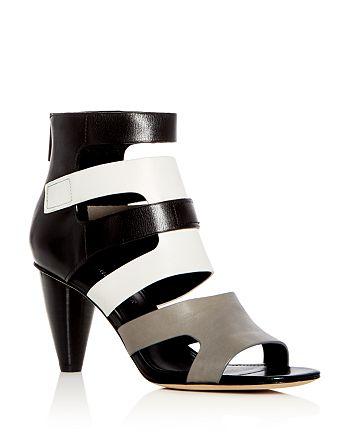 Donald Pliner - Women's Paula Leather Color-Block High-Heel Sandals