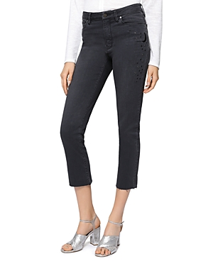 Sanctuary Robbie Embroidered Cropped Jeans in Atmosphere