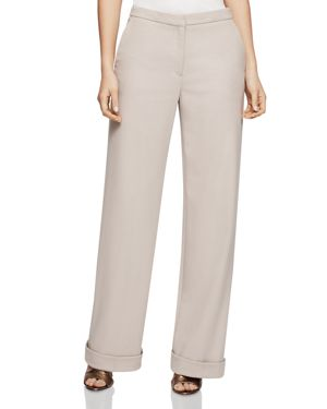 Reiss Carla Wide-Leg Cuffs Pants