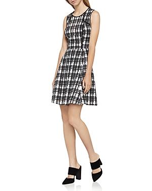 BCBGeneration Plaid Lace Dress