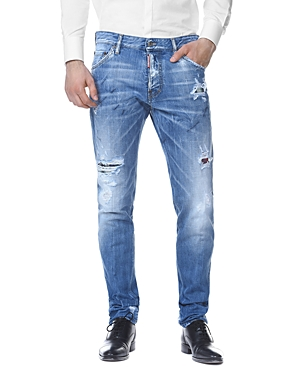 DSQUARED2 Cool Guy Slim Fit Jeans in Light Blue Marks