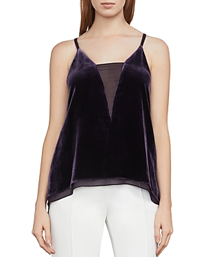 Bcbgmaxazria Lyssa Velvet High/Low Tank