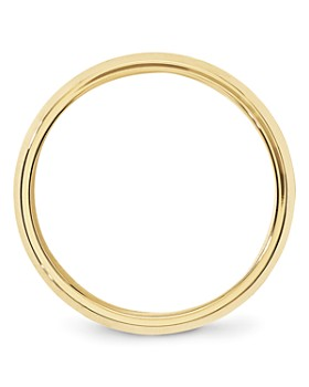 Bloomingdale's - Men's 6mm Bevel Edge Comfort Fit Band 14K Yellow Gold - 100% Exclusive