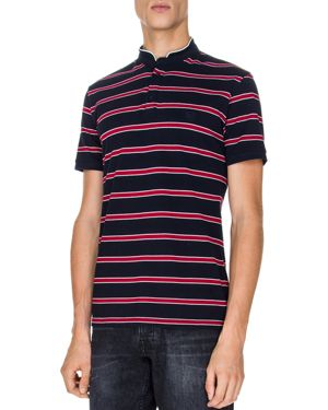 The Kooples Pique Striped Regular Fit Polo