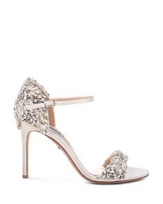 Badgley Mischka - Women's Tampa Embellished d'Orsay Ankle Strap Sandals