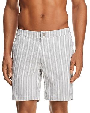 Onia Calder Striped Swim Trunks