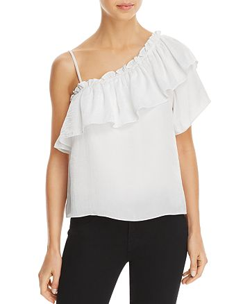 MISA Los Angeles - Bessie Asymmetric Ruffle Top