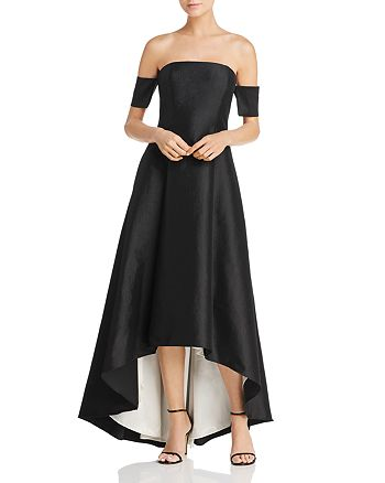 Avery G - Off-the-Shoulder High/Low Gown