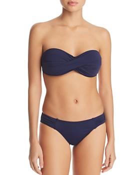 Tommy Bahama - Pearl Twist Bandeau Bikini Top & Pearl Shirred Hipster Bottom