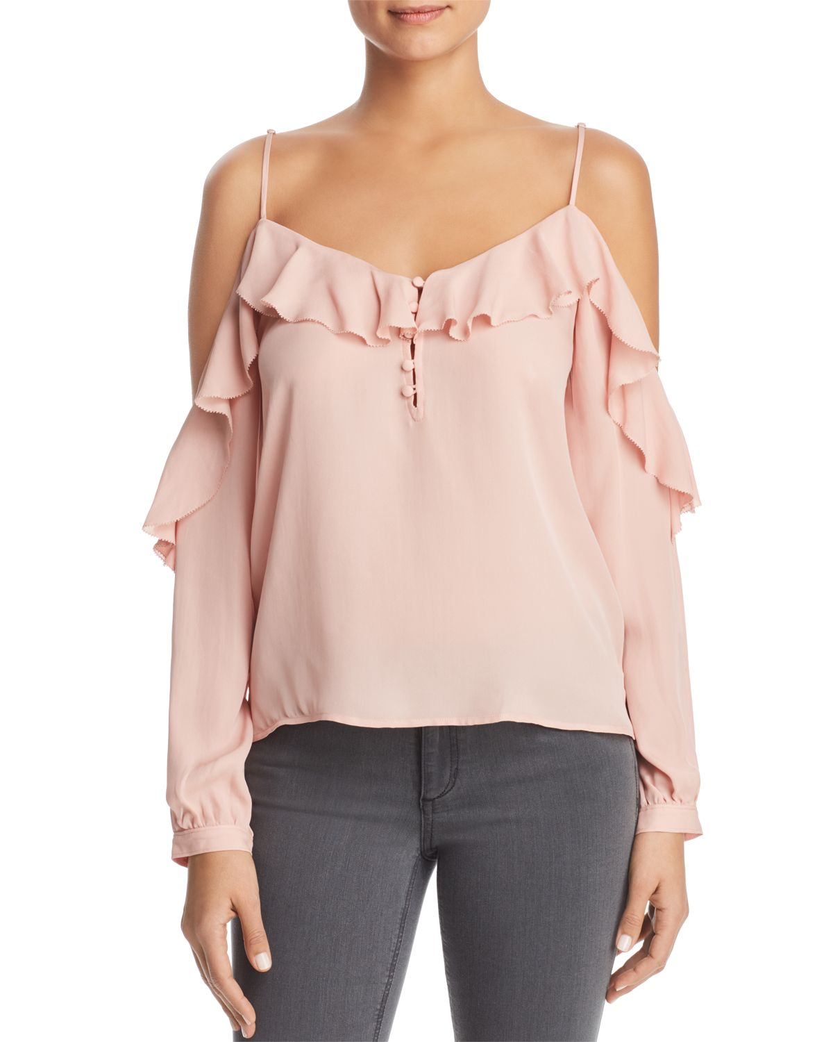 Arabeth Cold Shoulder Silk Blouse by Paige