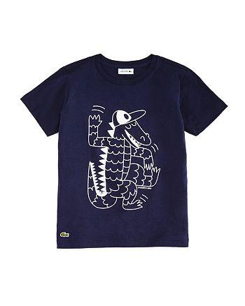 Lacoste - Boys' Crocodile Graphic Tee - Little Kid, Big Kid