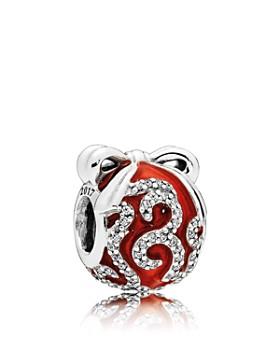 PANDORA - Sterling Silver & Enamel Bright Ornament Charm