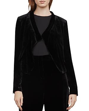 Bcbgmaxazria Lloyd Asymmetric Velvet Jacket