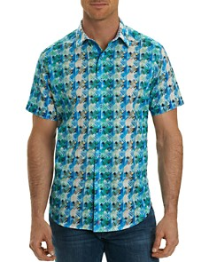 Robert Graham Ipanema Print Short Sleeve Button-Down Shirt - Bloomingdale's_0