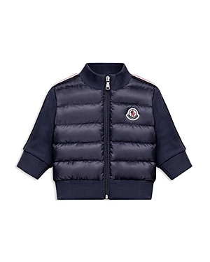 Moncler Girls Puffer Jacket with Knit Sleeves  Big Kid
