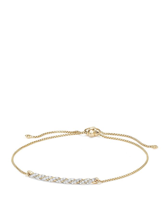 David Yurman - Paveflex Station Bracelet with Diamonds in 18K Gold