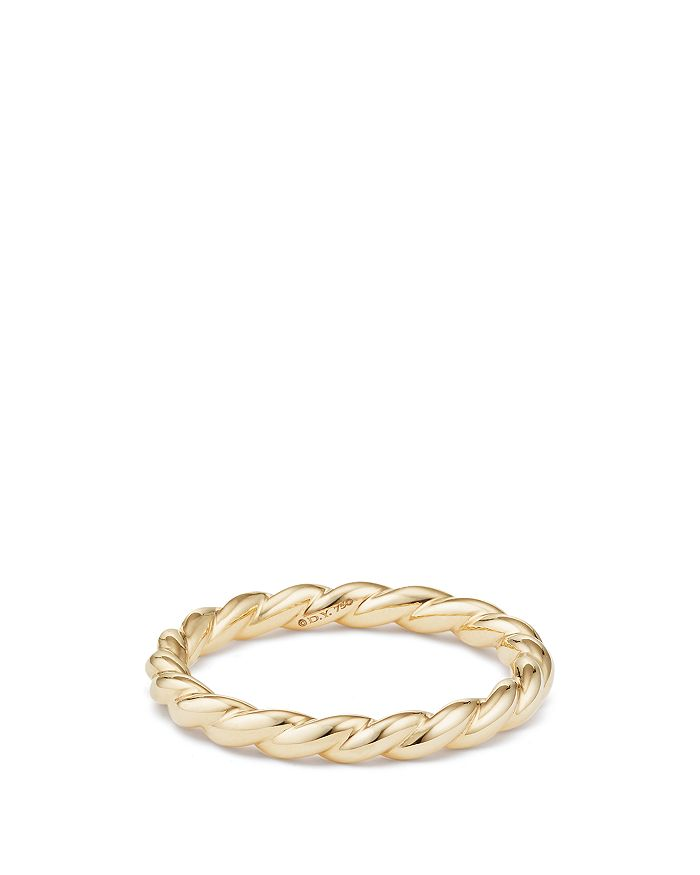 David Yurman - Paveflex Ring in 18K Gold
