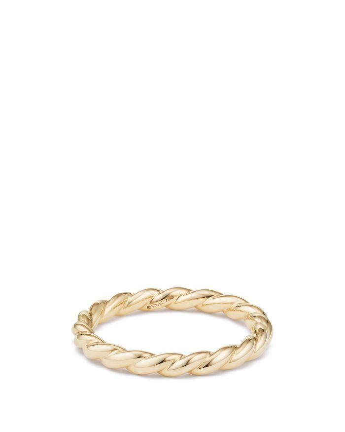 David Yurman Paveflex Ring in 18K Gold  | Bloomingdale's