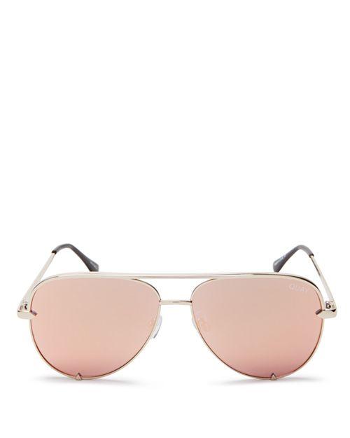 Quay - Women's High Key Mini Aviator Sunglasses, 53mm