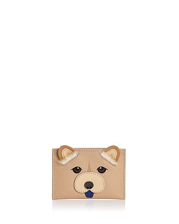kate spade new york - Year of the Dog Appliqué Leather Card Case